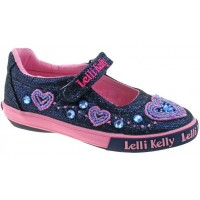 Lelli Kelly LK 3020 AVA BLUE GLITTER DOLLY SHOES