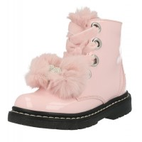 Lelli Kelly lk 6520 Fur Bow Rosa Patent Ankle Boot