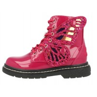Lelli Kelly LK 6540 Fairy Wings Fuxia Patent Ankle Boot Limited Edition