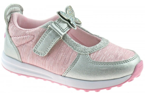 Lelli Kelly LK 7855 Colorissima Silver Rosa Interchangeable Dolly Shoes Trainers