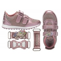 Lelli Kelly LK 7861 Colorissima Blush Pink Interchangeable Trainers Unicorn Style