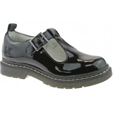 Lelli Kelly Youth LK 8288 Frankie T-Bar Black Patent Leather School Shoes F Fit