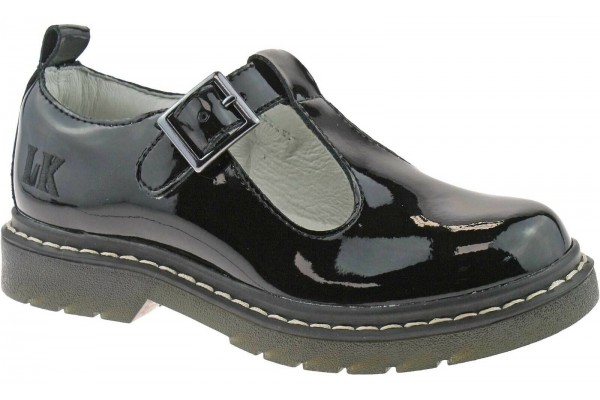Lelli Kelly LK 8288 Frankie T-Bar Black Patent Leather School Shoes F Fit