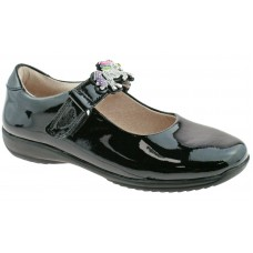 LELLI KELLY LK 8332 BLOSSOM UNICORN INTERCHANGEABLE STRAP SHOES E FIT BLACK PATENT