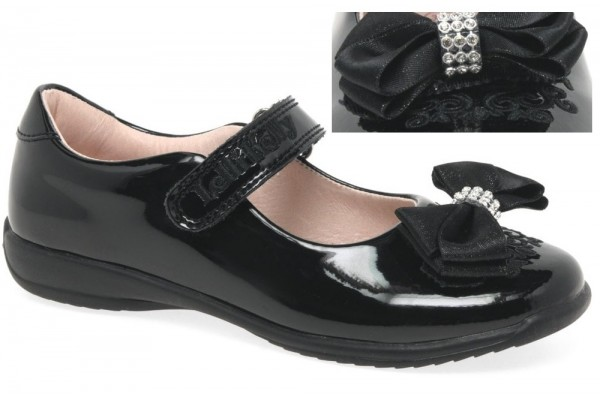 Lelli Kelly LK 8314 Zoe Interchangeable Clips Black Patent School Shoes F Fit