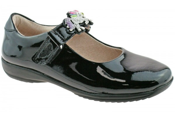 LELLI KELLY LK 8342 BLOSSOM UNICORN INTERCHANGEABLE STRAP SHOES G FIT BLACK PATENT