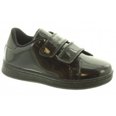 LELLI KELLY LK 8382 CAMILLA VELCRO TRAINER SHOES IN BLACK PATENT