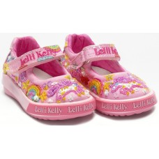 Lelli Kelly LK 9000 Unicorn Canvas Baby Dolly Shoes Pink