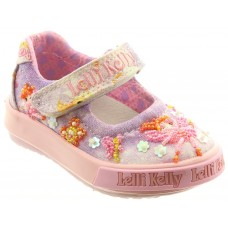 Lelli Kelly LK 9012 Fairy Canvas Baby Dolly Shoes Lilac