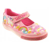 Lelli Kelly LK 9050 Unicorn Canvas Dolly Shoes Pink