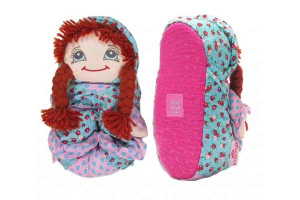 Lelli Kelly LK 8800 Doll Slippers Castana With Gift