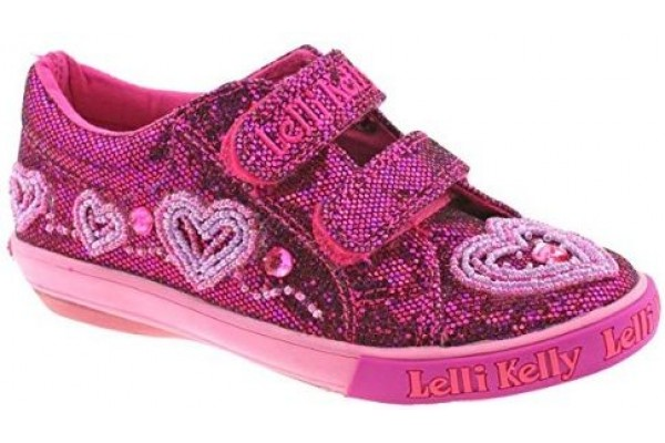 Lelli Kelly LK 3019 AVA PURPLE GLITTER Trainer Shoes