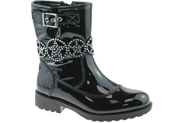 LELLI KELLY LK 3692 ANN MID BLACK PATENT BOOT