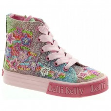 LELLI KELLY LK 4094 RAINBOW STAR MID HIGH TOP BOOTS