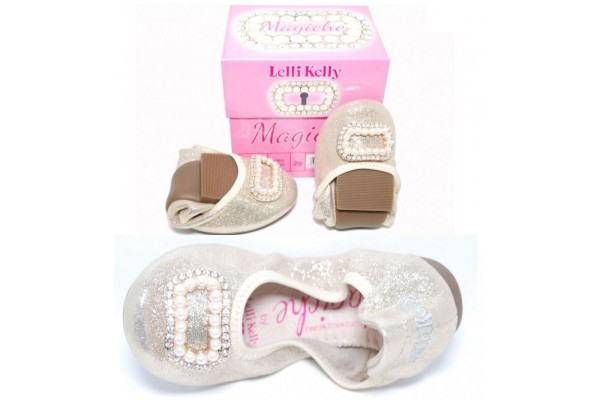 LELLI KELLY LK 4100 GOLD MAGIC BALLERINA SHOES