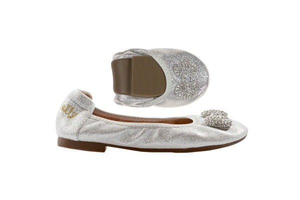 LELLI KELLY LK 4102 SILVER MAGIC BALLERINA SHOES