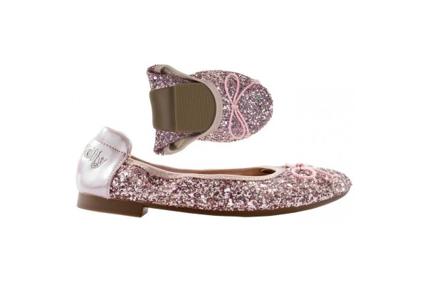 LELLI KELLY LK 4110 ROSA MAGIC GLITTER BALLERINAS MAGICHE