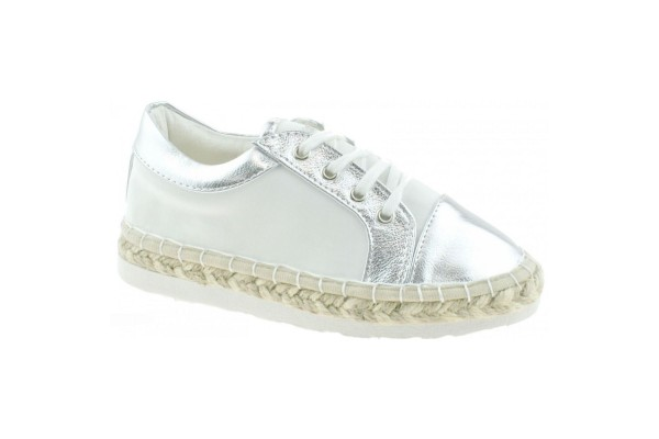 LELLI KELLY LK 4604 ESPADRILLES PUMPS SHOES WHITE