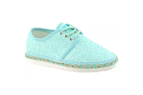 LELLI KELLY LK 4608 IBIZA ESPADRILLES PUMPS ACQUA