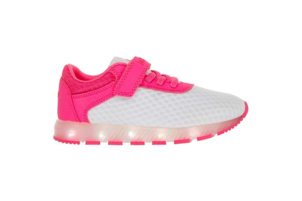 Lelli Kelly LK 4808 EMILY WHITE/FUXIA LIGHT UP TRAINERS
