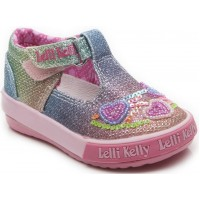 LELLI KELLY LK 5023 RAINBOW HEARTS T-BAR BABY SHOES
