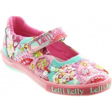 LELLI KELLY LK 5056 PATCHWORK DOLLY SHOES IN MULTI