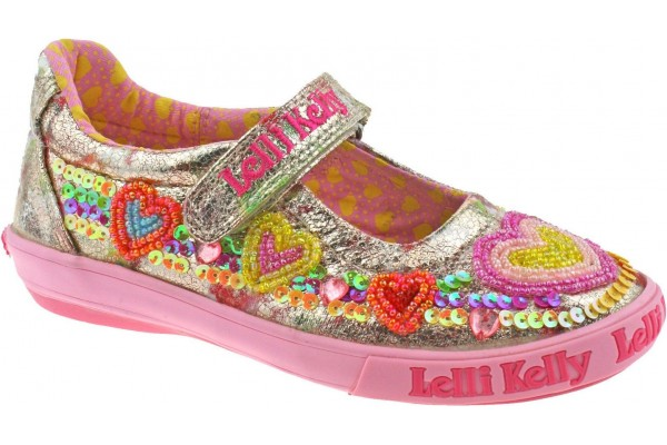 Lelli Kelly LK 5060 Mila Heart Multi Fantasy Dolly Shoes