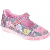 LK 9054 Lelli Kelly Clemantism Butterfly Multi Fantasy Dolly Shoes Size US 9 // EU 26