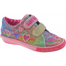 Lelli Kelly LK 5071 Rainbow Hearts Trainer Shoes