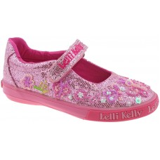 Lelli Kelly LK 5076 Pink Glitter Butterfly Dolly Shoes