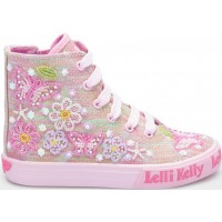 LELLI KELLY LK 5094 SHINING BUTTERFLY MID HIGH TOP BOOTS