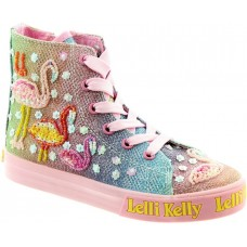 LELLI KELLY LK 5098 SHINING FLAMINGO HI-TOP BOOTS