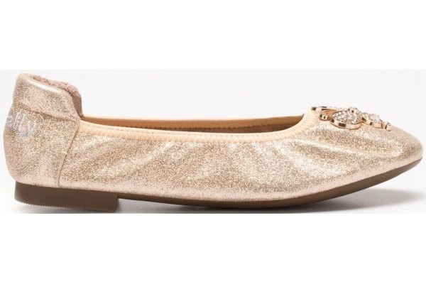 LELLI KELLY LK 5102 GOLD MAGIC BALLERINA SHOES MAGICHE