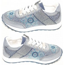 Lelli Kelly LK 6446 California Trainers Sneakers Blue Glitter