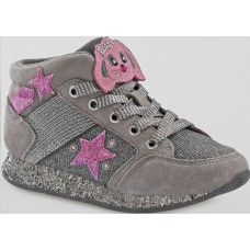 Lelli Kelly LK 6522 CONIGLIETTO Hi TOP TRAINERS GREY SUEDE