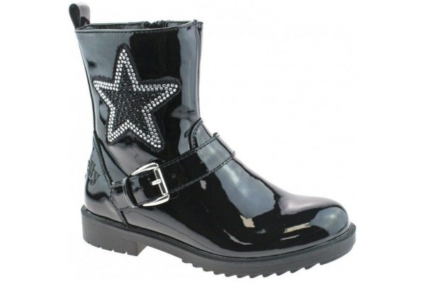 LELLI KELLY LK 7408 DANA STAR BOOT BLACK PATENT