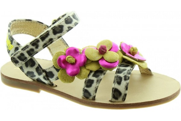 LELLI KELLY LK 7462 CHANTAL LEOPARD SANDALS