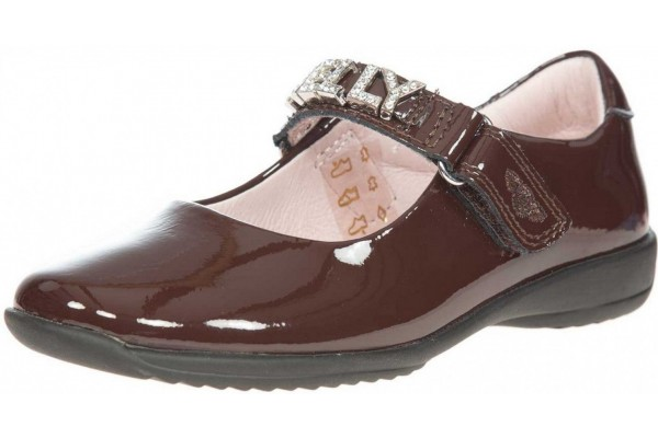 LELLI KELLY LK 8200 NICOLE INTERCHANGEABLE STRAP SHOES BROWN PATENT