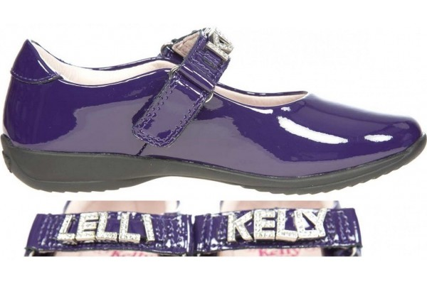 LELLI KELLY LK 8200 NICOLE INTERCHANGEABLE STRAP SHOES PURPLE PATENT