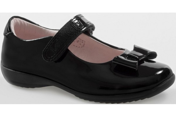 LELLI KELLY LK 8206 SCHOOL DOLLY SHOES BLACK PATENT