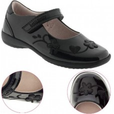LELLI KELLY LK 8208 SCHOOL SHOES BLACK PATENT