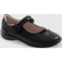 LELLI KELLY LK 8209 OLIVIA SCHOOL SHOES BLACK LEATHER