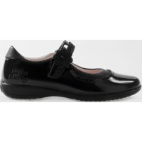 LELLI KELLY LK 8209 OLIVIA SCHOOL SHOES BLACK PATENT