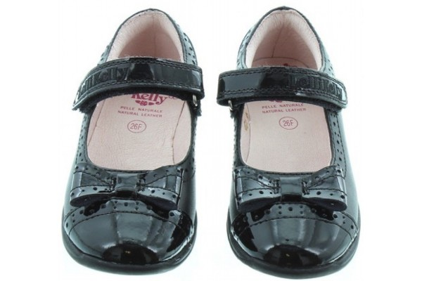 LELLI KELLY LK 8212 GABRIELLA SCHOOL SHOES BLACK PATENT LEATHER