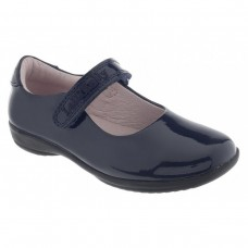 LELLI KELLY CLASSIC LK 8218 NAVY PATENT SCHOOL SHOES FIT F