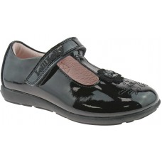 Lelli Kelly LK 8255 Black Patent Arianna T-Bar School Shoes G Fit