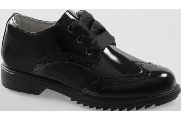 Lelli Kelly LK 8272 Kara Brogue Style Patent Leather School Shoes
