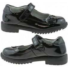 LELLI KELLY LK 8274 BLACK PATENT LEATHER SCHOOL SHOES F WIDTH