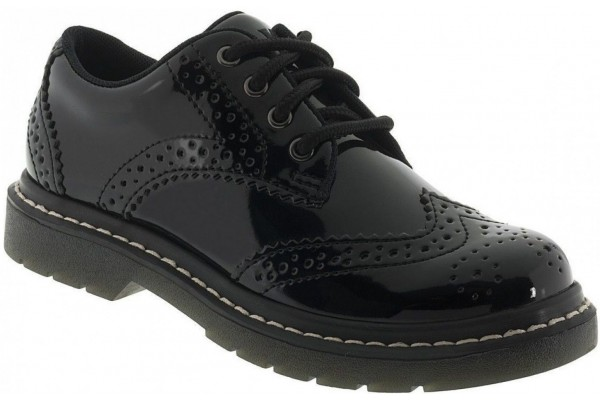 Lelli Kelly LK 8289 Teens/Youth Brogue Patent Leather School Shoes