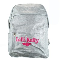 Lelli Kelly LK 8297 Silver Sparkly School Rucksack Backpack Bag